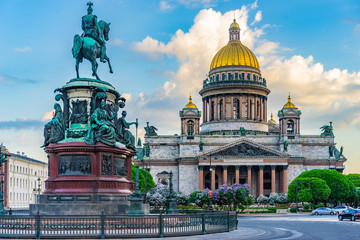 Saint Petersburg. Russia. Architecture of Petersburg. Saint Isaac's Cathedral. Center of...
