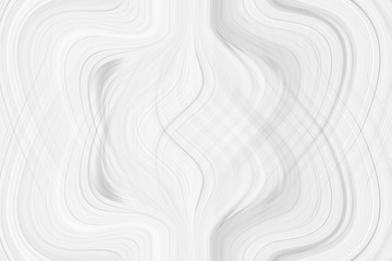Graphic symmetrical pattern for wallpaper and packaging for various purposes. The background is gray and white with a gradient texture of stripes, lines, waves and geometric shapes.