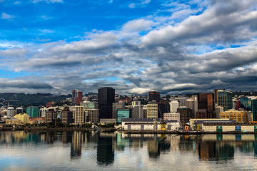 New Zealand. Wellington, the capital city. The Waterfront