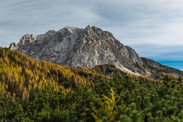 Triglav peak in Slovenia Julian Alps at autumn