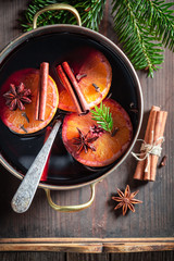 Aromatic and tasty mulled red wine for Christmas