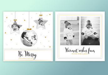 Holiday Photo Card Layout