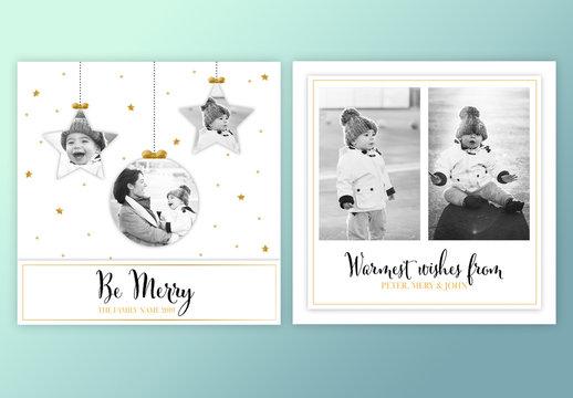 Holiday Photo Card Layout