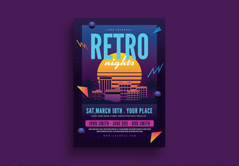 Retro Flyer Layout