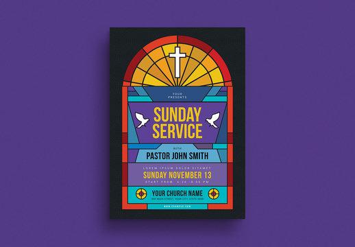 Sunday Service Flyer Layout