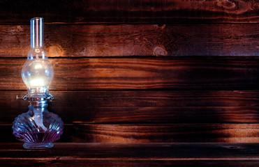 lamp kerosene dark wood
