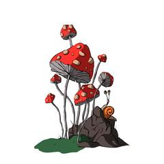 Cartoon vector fungus.