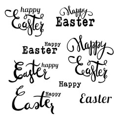 Universal lettering for easter cards, posters, flyers, web- design,  scrapbooking graphics