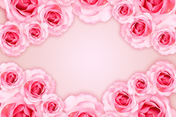 Abstract Background. Fresh flower pink roses wallpaper. love and Valentine's Day.