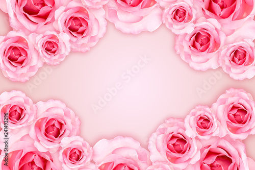 Abstract Background Fresh Flower Pink Roses Wallpaper Love And
