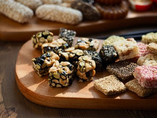 한국의 음식 모듬한과, 약과, 사탕,유과, 강정