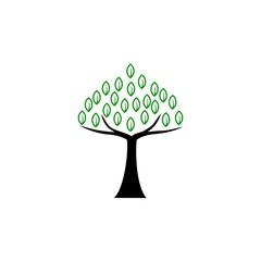 eco tree logo vector