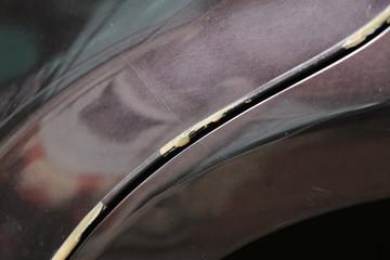 Tuinposter Ikea Car's scratch detail , crashed body part