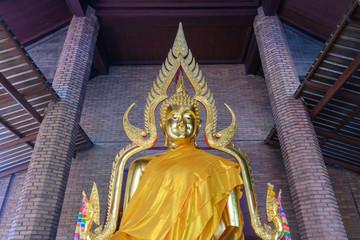 タイ・アユタヤ・遺跡・涅槃像・ワット・ヤイ・チャイ・モンコン