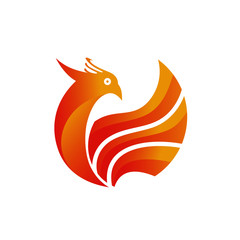 Phoenix Fire Bird Logo Template