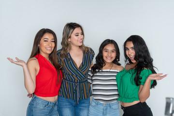 Four Teenage Female Friends