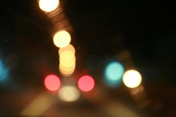 night light bokeh, traffic night light