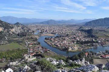River. Landscape. National park. Dalyan. Mugla. Turkey