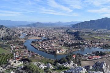 River. Landscape. National park. Dalyan. Mugla. Turkey