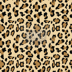Leopard seamless pattern. Animal print. Vector background.animal skin, tiger stripes, abstract pattern, line background, fabric. Amazing hand drawn vector illustration. Poster banner.