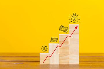 Rising earnings chart