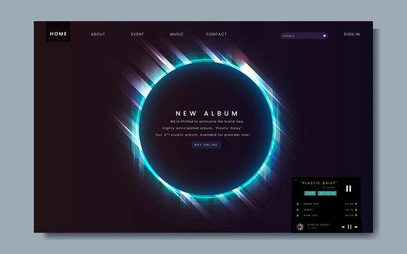 Album release website design
