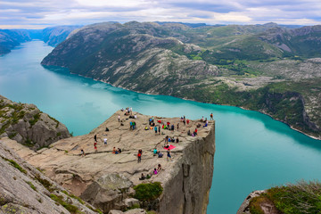 Norway's cliffs, the region where tourists admire
