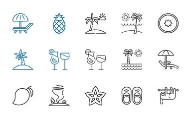 tropical icons set