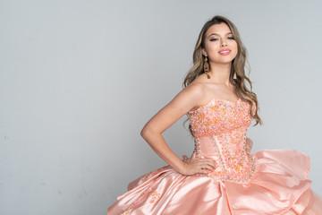 Teen Girl In Quinceanera Dress