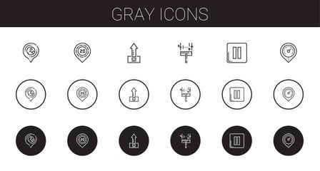 gray icons set