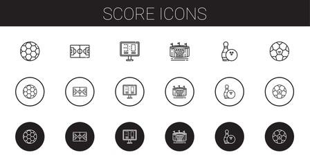 score icons set