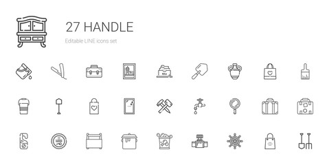handle icons set