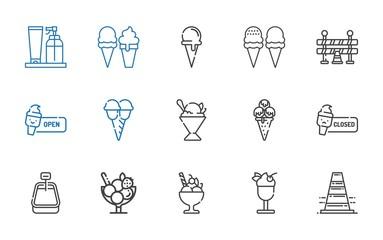 cone icons set