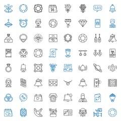 ring icons set