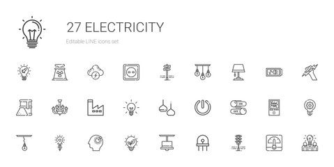 electricity icons set Wall mural