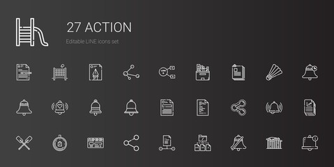 action icons set