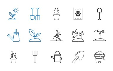 soil icons set