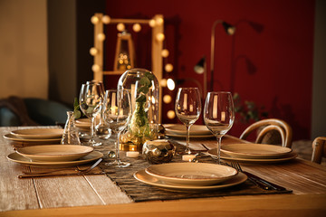Beautifully served festive table
