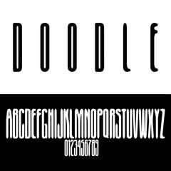 Doodle stretched font