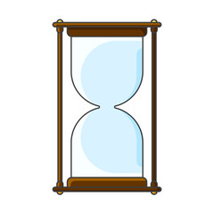 Hourglass icon. Vector illustration on white background