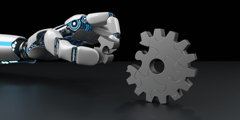 Robot Hand Gear Wheel Puzzle