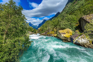 river from glacier in Norway