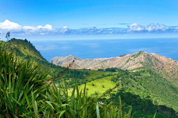 Landscape of St Helena Island.