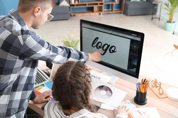 Young designers working in studio