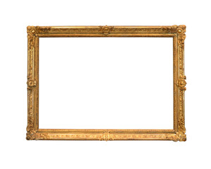 Golden frame for a picture