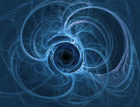 wormholes in the quantum world, abstract fractal illustration