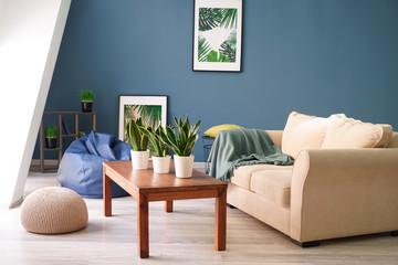 Beautiful interior of modern comfortable room