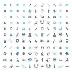 set of home medical icons - logo design vector