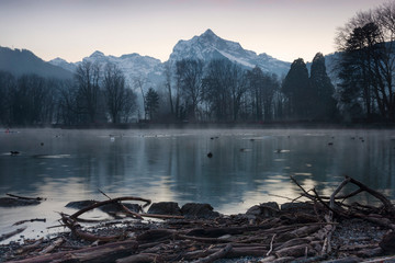 Winterstimmung in Weesen am Walensee