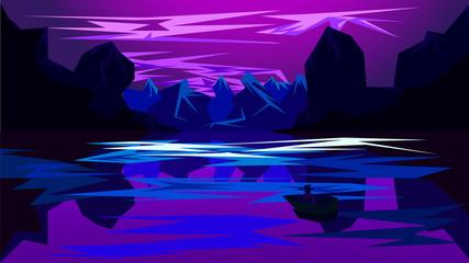 Canvas Prints Violet Beautiful purple river